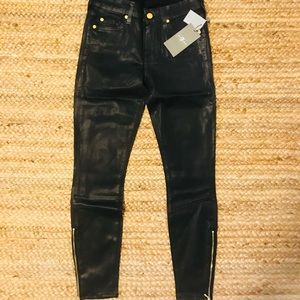 NWT 7 for All Mankind black coated skinny jeans